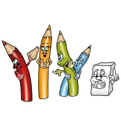 Happy Crayons vector image