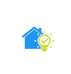 House and light bulb icon vector