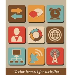 icon set for websites vector image