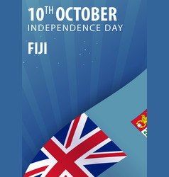 Independence day of fiji flag and patriotic vector