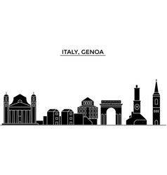 italy genoa architecture city skyline vector image