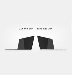 laptop isolated on abstract background can use vector image
