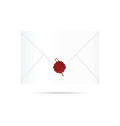 letter envelope with red seal wax vector image