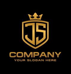 Letter js initial logo luxury logo design vector