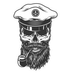 Monochrome vintage skull vector