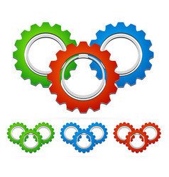 multicolored gear compositions vector image