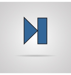 Next track web icon with shadow Media player vector