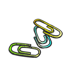 paper clips office stationery color vector image
