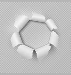 paper rip hole realistic torn ragged gap poster vector image