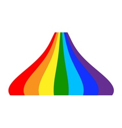 Rainbow icon cartoon 5 vector image