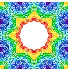 Rainbow kaleidoscope colorful background vector