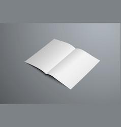 realistic mockup open bi-fold booklet white vector image