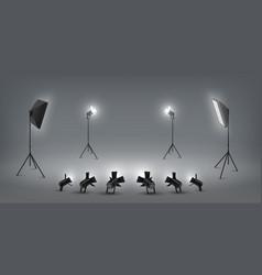 Realistic spotlight studio light effects vector