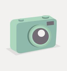 retro green pastel camera vector image
