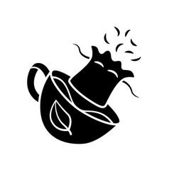 Reusable tea bag glyph icon vector