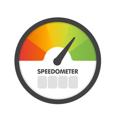 Round speedometer fast speed template vector