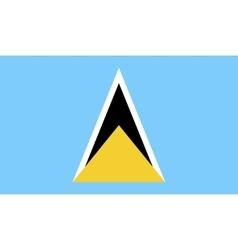 Saint lucia flag image vector