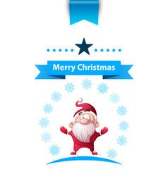 Santa claus father winter - merry christmas vector