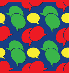 seamless - colored speech bubbles vector image