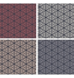 Set of colorful geometric pattern background vector