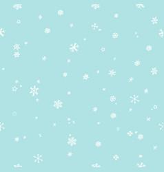 snowflakes seamless pattern snowfall christmas vector image