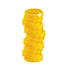 stack of bitcoin vector image