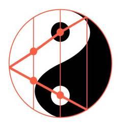Statistics balance of yin yang vector image