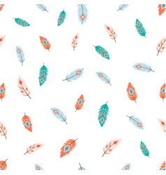 tribal feathers pattern vector image