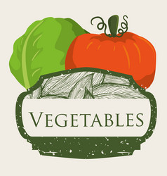 vegetables fresh harvest food image vector image