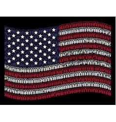 waving united states flag stylization of test tube vector image