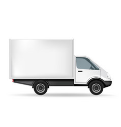 white truck with blank area vector image