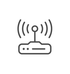 wi-fi router line icon vector image
