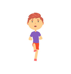 boy doing sport exercise kids physical activity vector image vector image