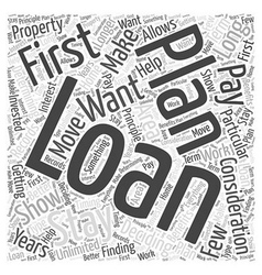 Deciding on the Loan you will Get Word Cloud vector image