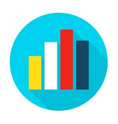 graph chart flat circle icon vector image