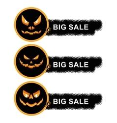 helloween sale off stickers vector image vector image
