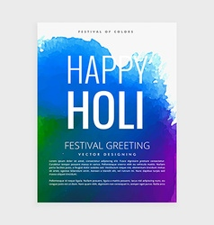 indian holi festival poster vector image