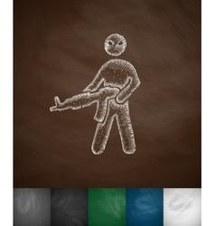man with a gun icon vector image