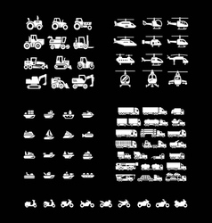 Set icons of transport vector image vector image