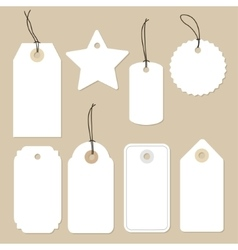 Set of various blank white paper tags labels vector image vector image