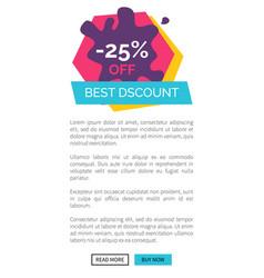 -25 off best discount website vector image