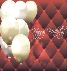 Beautiful card for birthday with red background vector image vector image
