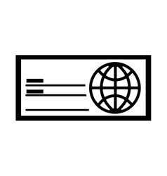 check bank isolated icon vector image vector image