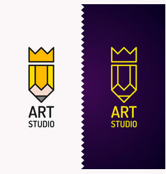 conceptual logo and label art studio vector image