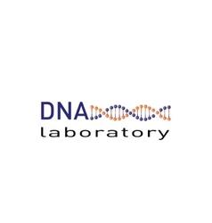 Dna laboratory logo vector