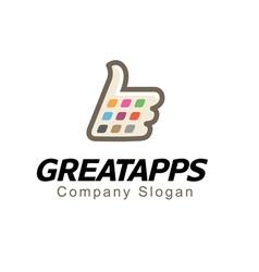 Great apps Design vector image