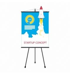 Startup presentation screen vector image vector image