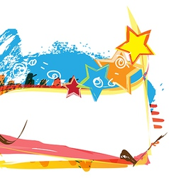 banner design with paint background vector image