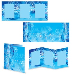 christmas booklet or folder image vector image vector image