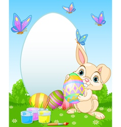 Easter Bunny painting Easter Eggs vector image vector image
